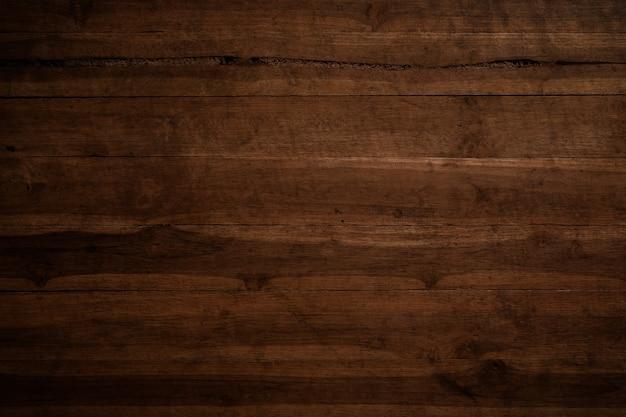 Oude grunge donkere geweven houten achtergrond, de oppervlakte van de oude bruine houten textuur