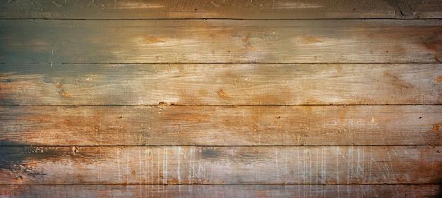 Oude grunge houten plank achtergrond. horizontale banner textuur