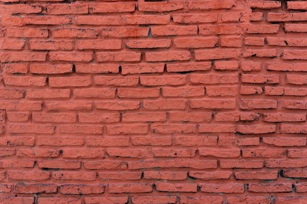 Oude horizontale bakstenen muur achtergrond