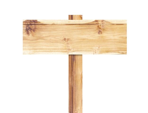 Oude houten bord geïsoleerd