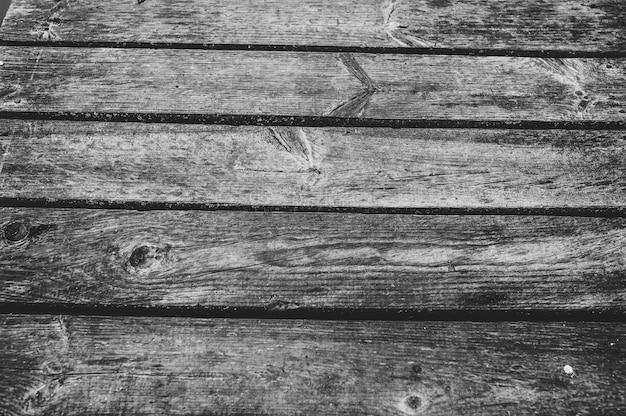 Oude houten bruin oppervlak in zwart-wit