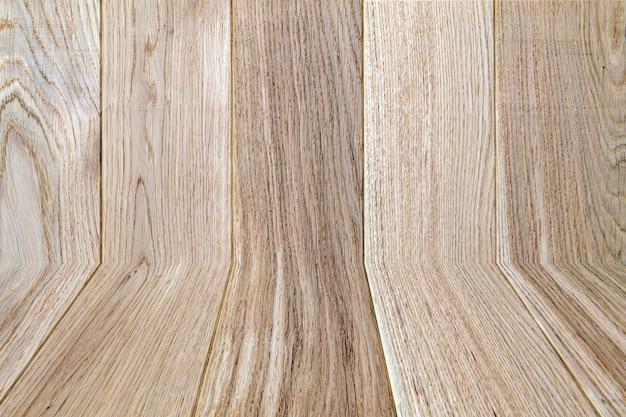 Oude houten gele of bruine textuurachtergrond. bois of panelen horizontaal beeld