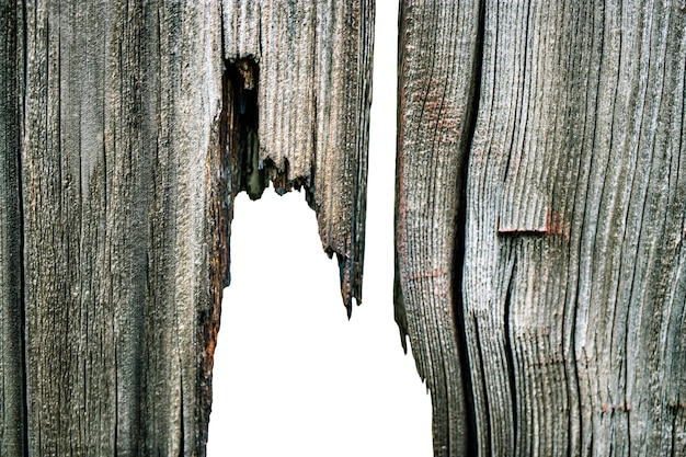 Oude houten planken met afbladderende verf. achtergrond voor ontwerp. oud bord. effect van weer op hout.
