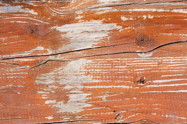 Oude houten tafel geschilderd