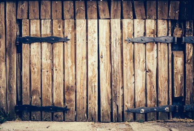 Oude houten vintage grungedeur