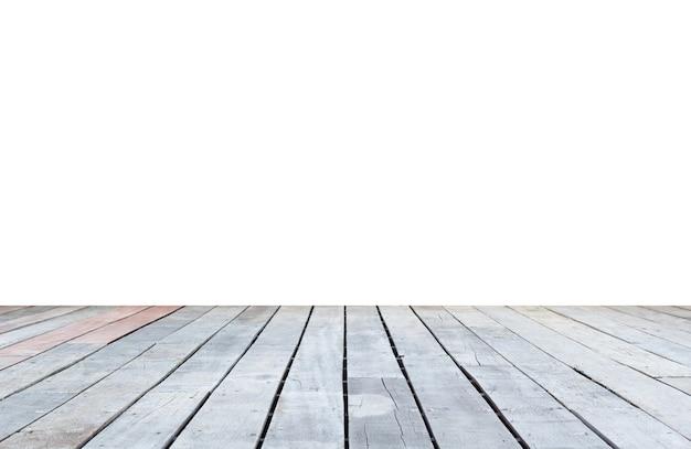 Oude houten vloer op witte achtergrond
