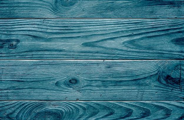 Oude houtstructuur. blauwe houten planken.