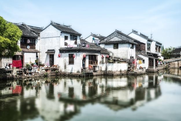 Oude huizen in de oude stad van suzhou