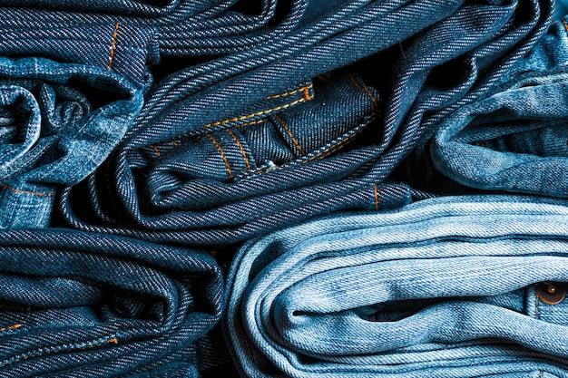 Oude jeans denim selectieve focus