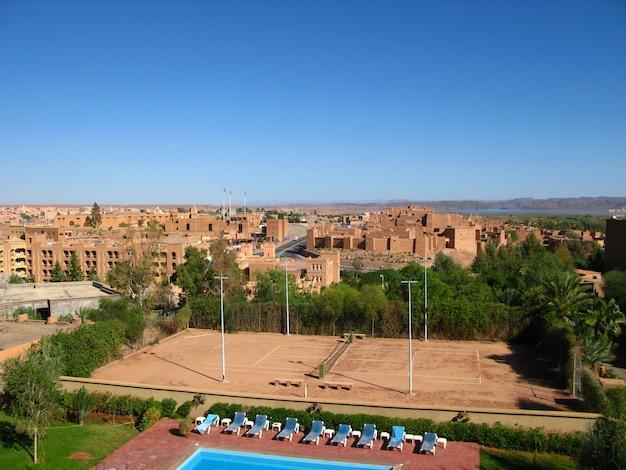 Oude kasbah, in ouarzazate, marokko