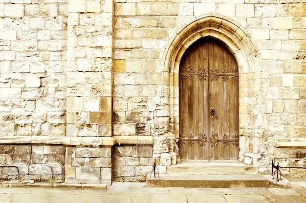 Oude kasteel deur