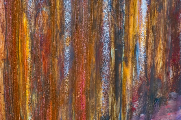 Oude kleurrijke roestige meta van de zinkmuur