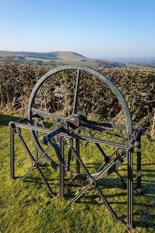 Oude machines van de jill windmill in clayton east sussex
