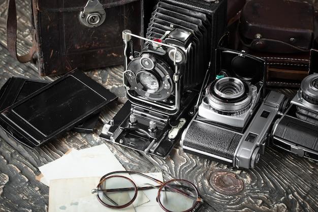 Oude mechanische fotocamera