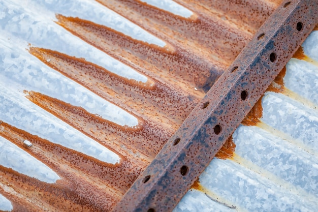 Oude metalen plaat dak textuur