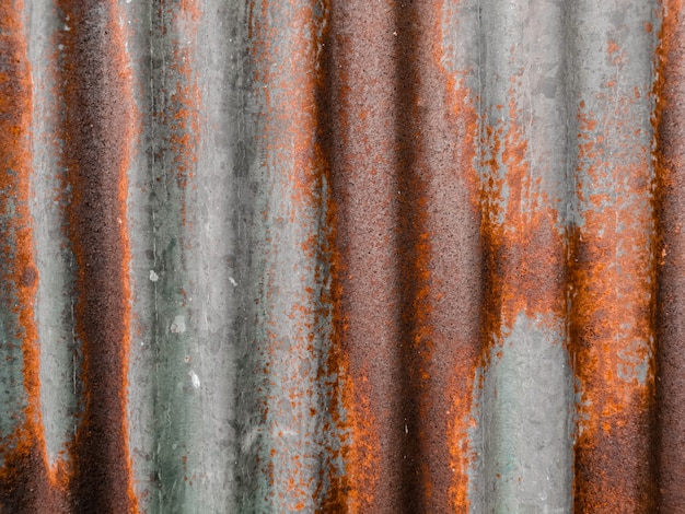 Oude metalen plaat met roestige textuur, roestige metalen plaat, textuur roestige zinkachtergrond