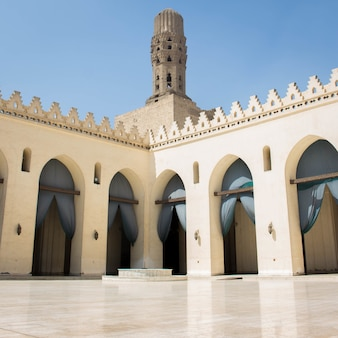 Oude moskee in caïro, egypte