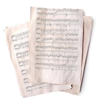 Oude muzieknoten