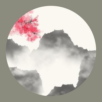 Oude natuur abstracte mist rotsen
