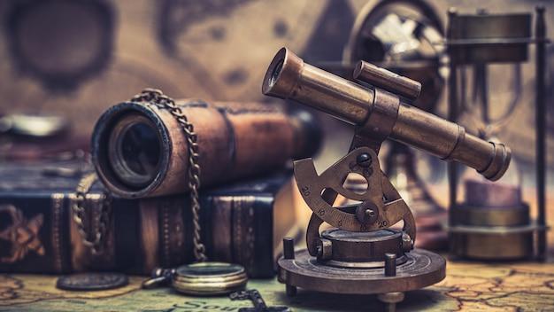 Oude navigatie sextant meetinstrument