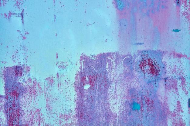 Oude noodlijdende bruin terracotta koper roestige achtergrond met ruwe textuur veelkleurige insluitsels. stained gradient grof korrelig oppervlak.