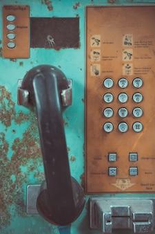 Oude openbare telefoon