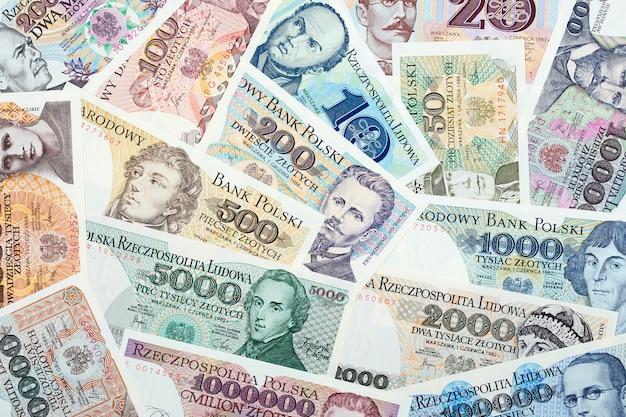 Oude poolse zloty, een zakelijke achtergrond