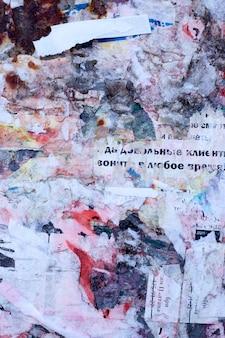 Oude posters. gescheurde posters. gescheurd papier