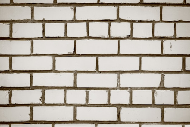 Oude realistische bakstenen muur gemaakt van witte baksteen