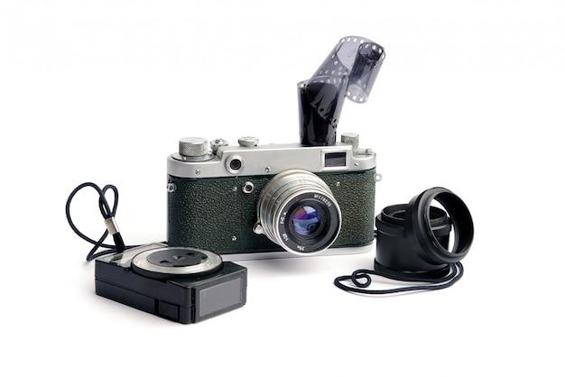 Oude retro fotocamera's