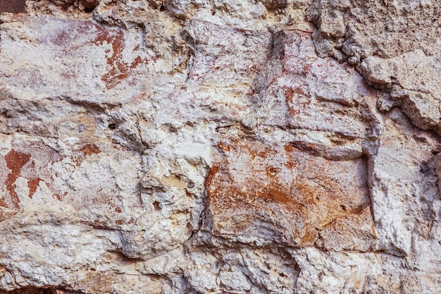 Oude rode baksteen geweven muur.