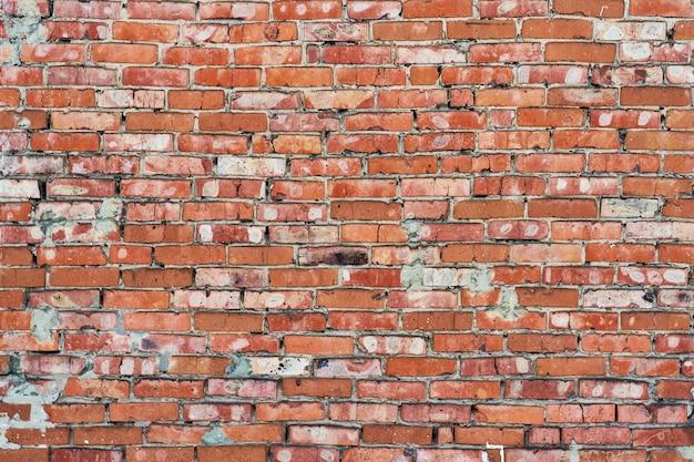 Oude rode bakstenen muur textuur achtergrond
