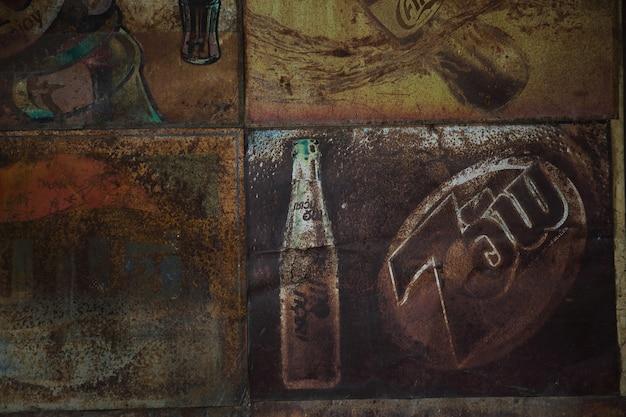 Oude roestige gegalvaniseerde zink achtergrondgeluid textuur