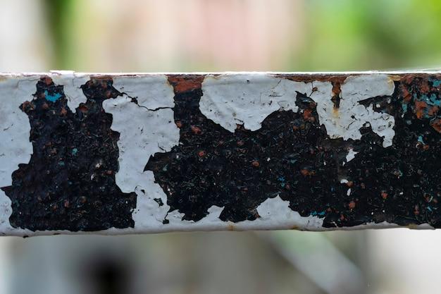 Oude roestige oppervlak, blauwe verf