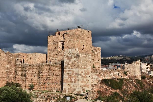 Oude romeinse ruïnes in byblos, libanon