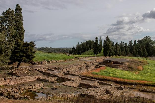 Oude romeinse ruïnes van mirobriga