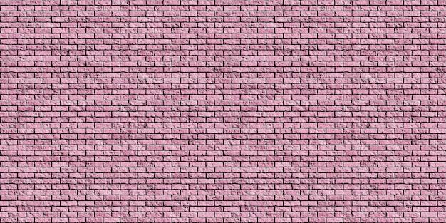 Oude roze bakstenen muur naadloze achtergrondstructuur. 3d-illustraties