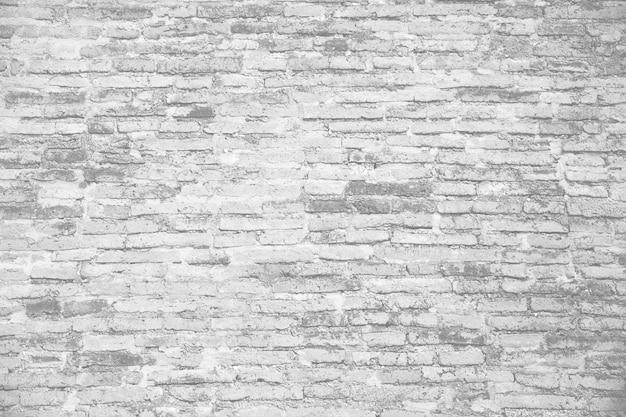 Oude ruïne witte bakstenen muur achtergrond
