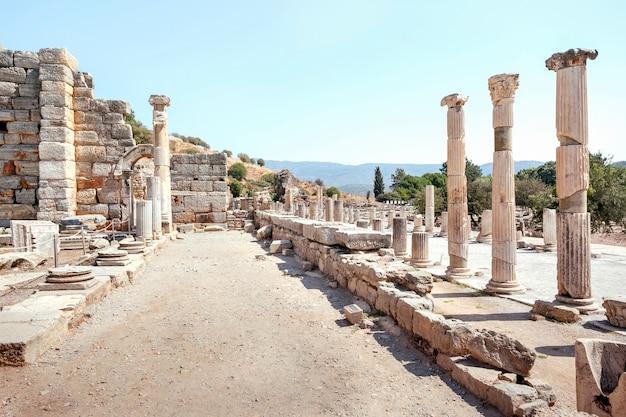 Oude ruïnes in efeze, turkije.
