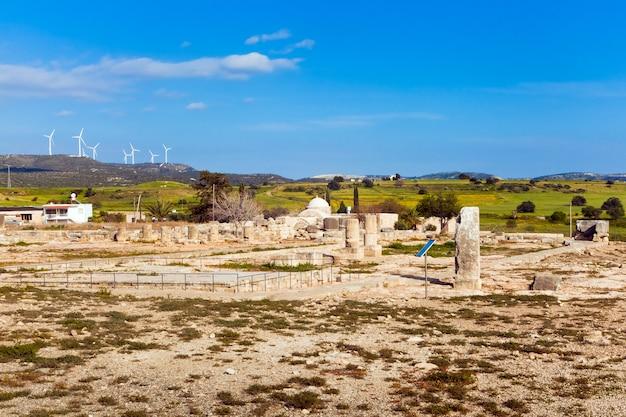 Oude ruïnes in paphos, cyprus