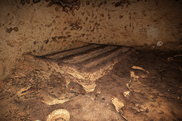 Oude ruïnes, oude dongola in soedan, saharawoestijn, afrika
