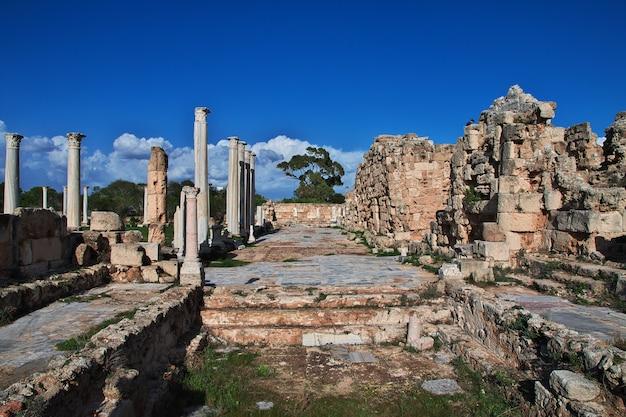 Oude ruïnes salami, noord-cyprus