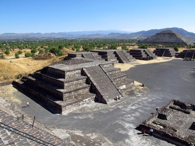 Oude ruïnes van azteken, teotihuacan, mexico