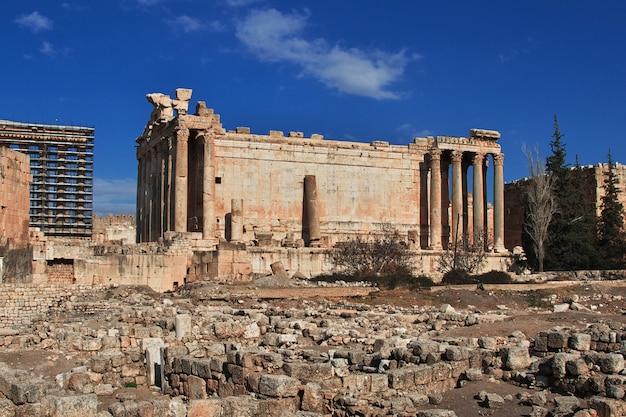 Oude ruïnes van baalbek, libanon
