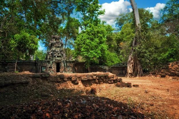 Oude ruïnes van de tempel van angkor in complexe angkor wat, kambodja.