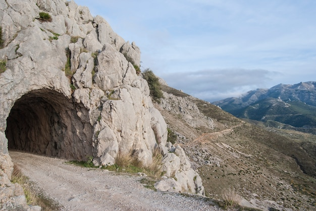 Oude spoorwegtunnel