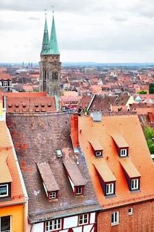 Oude stad (altstadt) van neurenberg, duitsland