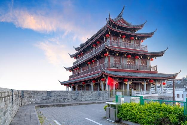 Oude stad en stadsmuurruïnes in chaozhou, de provincie van guangdong
