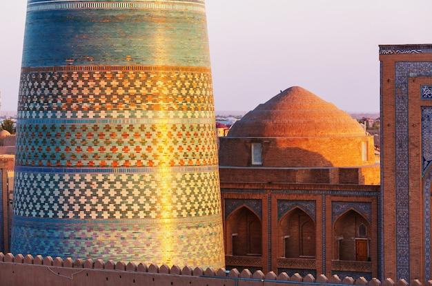 Oude stad khiva, oezbekistan.