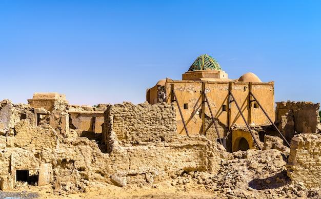 Oude stad tamacine in ouargla wilaya van algerije